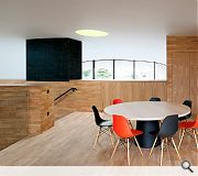 Timber interiors were specified to create a more intimate environment
