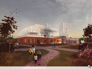 Ray of sunlight hits Springburn Winter Gardens as event space is unveiled