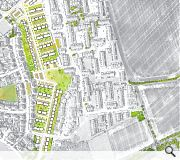 Existing streets will be realigned for the master plan