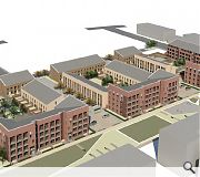 Tenemental scale flatted blocks will circle lower density town houses
