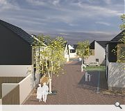 The design is intended to respect the adjacent village and moorland