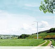 Bystrup - Architecture, design & engineering have opted for a Telegraph pole-alike T composition