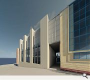 Strong vertical elements are intended to tie the development in with neighbouring properties