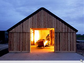 Tiree live-build boathouse completes