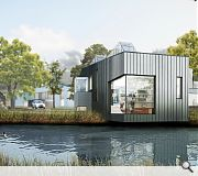 Some structural gymnastics will see the end villa partially 'hover' over the pond