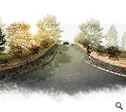 Existing bridges will be 'greened' with continuous planters and extended pavements