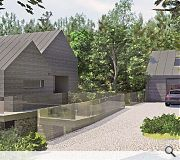 A matching detached garage forms part of the brief