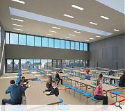 A multi-use hall will be provided for pupils