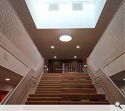 A feature stair provides second floor access