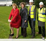 Hyslop was on hand for the official sod cutting ceremony