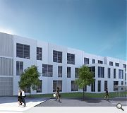 Stark white concrete cladding panels will distinguish the new office scheme