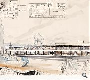 Sketch proposals for a cafe/pub in one of Scotland's yet to be built New Towns