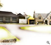 Roofs and walls will be planted to complement the landscape