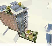 Balconies, a backcourt and rooftop deck provide outdoor amenity