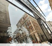 Distinctively British fabrics sourced from neighbouring Saville Row have been used