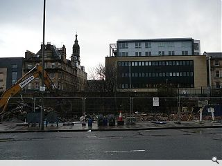 Gallowgate gap site emerges as fire damaged properties are levelled