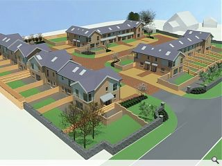 Larbert council housing to serve as village gateway