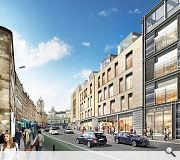 Improvements to Leith Street will see the street newly enclosed and the removal of a central reservation