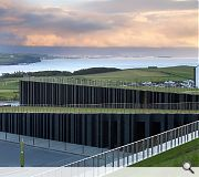 The Giants Causeway visitor centre earned plaudits as a scuptural piece of 'land art'