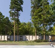 An L-plan courtyard extension will stand alongside the main school