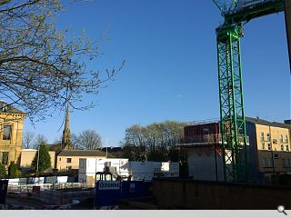 Glasgow Academy science wing takes shape