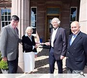 L-R: Rt Hon Brian Donohoe MP, Lady Cowan, Bill MacLean of Goldrealm Properties Ltd and John Scott MSP