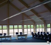 The hall offers a scenic space for training and conferences