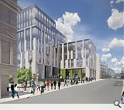 Buildings will step up in height from Market Street towards The Green