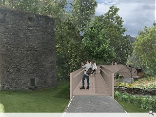 Doune Castle footbridge to serve as timber demonstrator