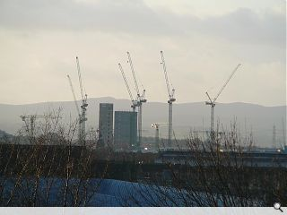 Glasgow shows signs of life with 18 construction cranes