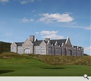 Take your pic: Aberdeen could be spared this clubhouse if the windfarm goes ahead
