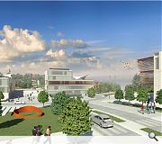 A new village square forms the heart of the proposals