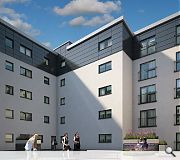 A landscaped communal courtyard will sit at the centre of the block