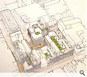 Rooftop terraces will be provided for residents although there may not be sufficient demand for a public bar