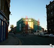 Scaffolding currently enshrouds the build