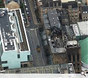 Only from above does the full devastation wrought on the Glasgow School of Art by its recent fire become apparent