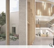 A central landscaped courtyard ensures a green outlook for all rooms