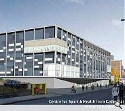 This Strathclyde University sports centre, a separate development, will rise on an adjacent plot