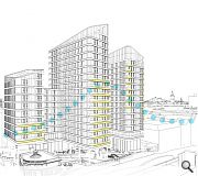 A trio of towers will rise as part of the scheme