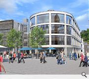 A new public square will form the heart of the scheme