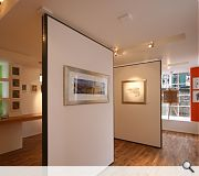 Flexibility is key with the gallery configurable as a single open space or subdividable into smaller rooms