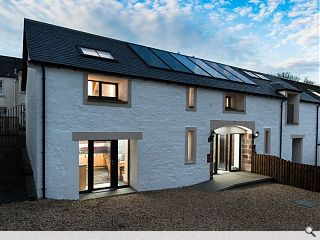 Draughty barn transformed into one of Scotland's greenest homes