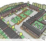 A central shared space will form the heart of the community