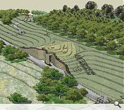 A burial landscape of standing stones, paths and a 'memorial wood' will be created