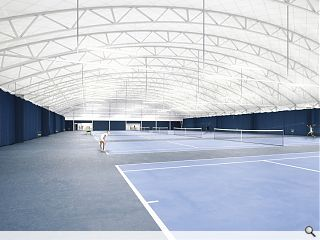 Heriot-Watt hit tennis centre plans into planners court