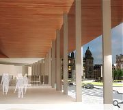 An extended concourse will spill-over onto George Square