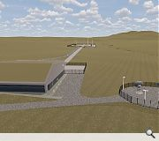 The site integration facility will be clad in grey and green metal panels