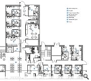 A ground floor plan of the completed build