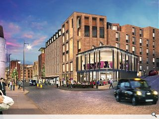 New Waverley Premier Inn hotels top out