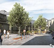 A run of mews properties will now front a rear courtyard